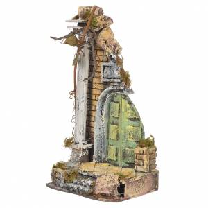 Antique temple in cork for nativities, 30x15x12cm s2