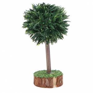 Arbre vert pour crèche en pvc et bois s2