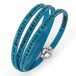 Armbänder AMEN: Armband AMEN Ave Maria Italienisch türkis