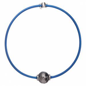 Armbänder AMEN: Armband AMEN Engel und Zirkonen Silber 925 Thermoplast blau
