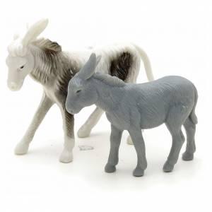 Animales para el pesebre: Asnos para pastor pesebre cm 6