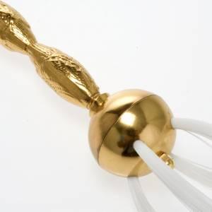 accessoires pour bénédictions: Aspersoir d'eau bénite à brosse laiton doré argenté