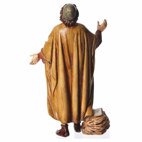 Astonished man, nativity figurine, 13cm Moranduzzo s2
