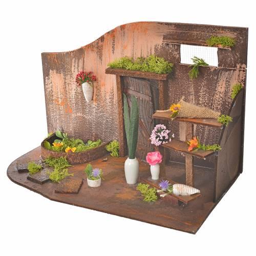 Atelier fleuriste crèche 20x14x20 cm s3