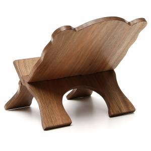 Atril de mesa de madera de nogal simple Monjes de Belén s3