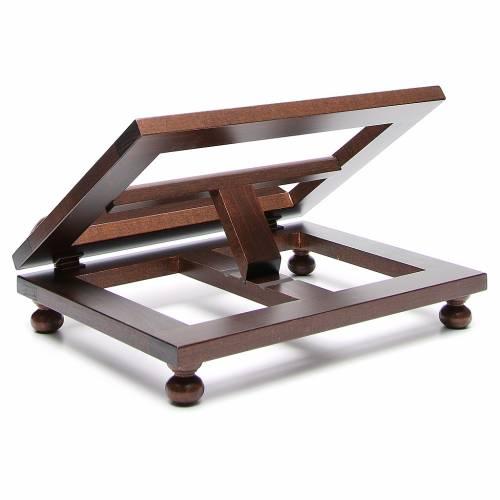 Atril madera oscura 30x40 cm s3