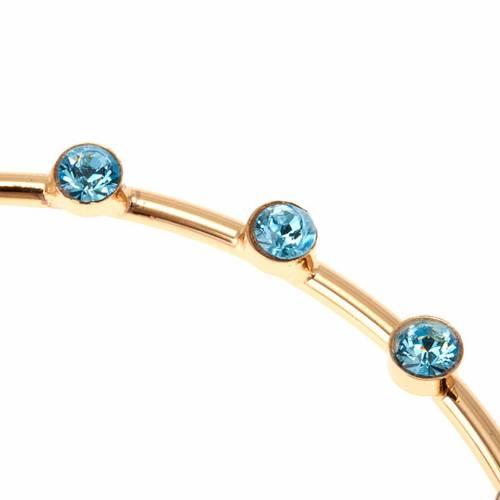 Aureola per santi ottone e strass azzurri s2