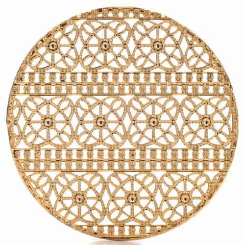 Auréole laiton doré et décors s4