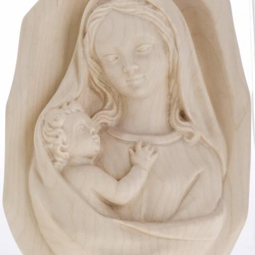 Bajorrelieve Virgen de pared madera Val Gardena natural s4