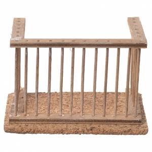 Balcon crèche napolitaine 10x7x6 cm s1