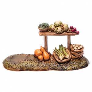 Crèche Moranduzzo: Banc de marchand de fruits pour crèche Moranduzzo 10 cm