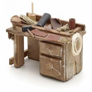 Banc du cordonnier en miniature crèche Napolitaine s2