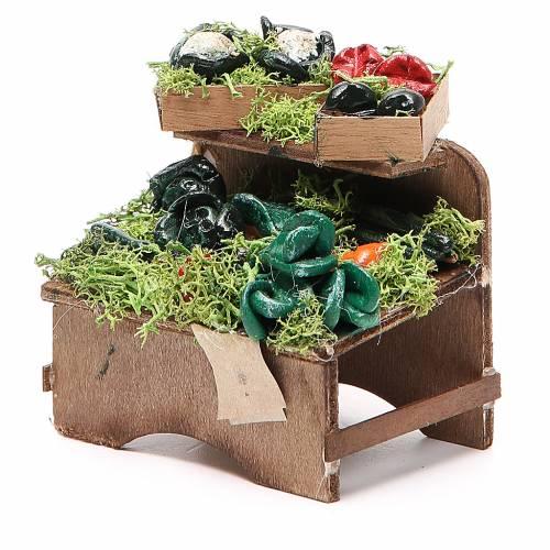 Banc légumes en vrac 8x9x7 cm crèche Naples s2