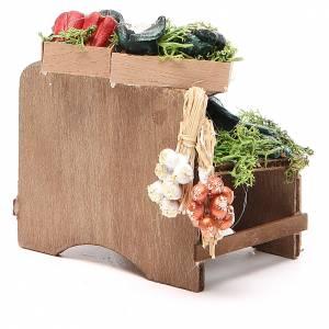 Banc légumes en vrac 8x9x7 cm crèche Naples s4