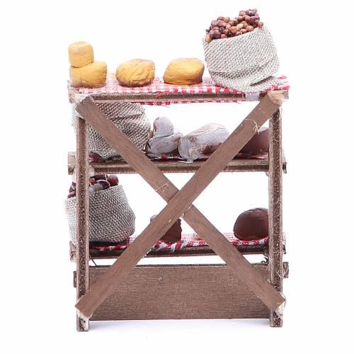 Banc olives et noix crèche napolitaine 16x12x10 cm s4