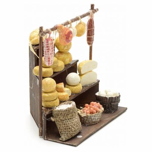 Banca de embutidos y quesos de 11x11x10 cm pesebre s2