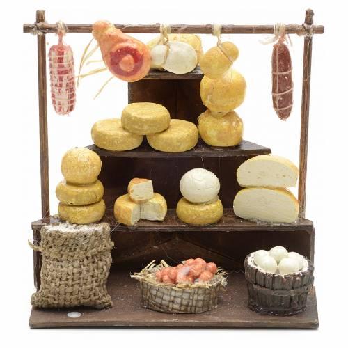 Banca de embutidos y quesos de 11x11x10 cm pesebre s1