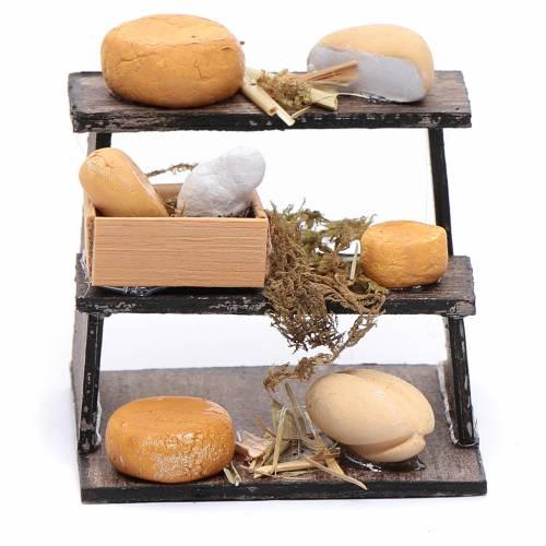 Banchetto di formaggi accessorio presepe napoletano s1