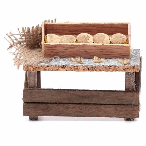 Banchetto forme di pane 10x10x5 cm per presepe s1