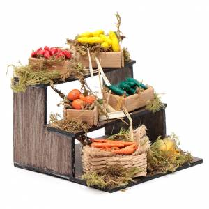 Banco con cesti di frutta - presepe artigianale Napoli s3