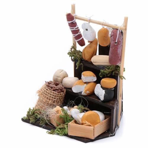 Banco triangolare di formaggi accessori presepe di Napoli s2