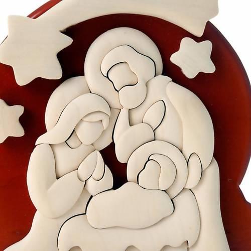Bas relief Sainte Famille Azur 20x16 cm s2