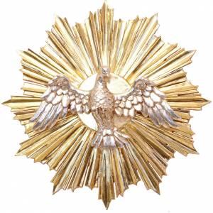 Bas-relief, Holy Spirit 28cm in antique gold Valgardena wood s1
