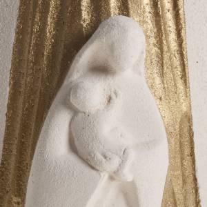 Bas reliefs variés: Bas relief Vierge à l'enfant or et rayons 17.5 cm