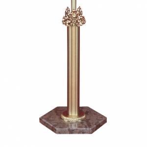 Base croix de procession laiton moulé marbre rouge Vérone s1