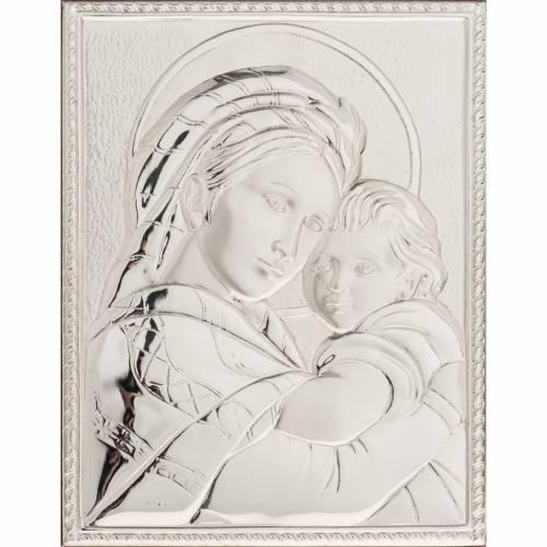Bassorilievo bilaminato Madonna della seggiola rettangolare s1