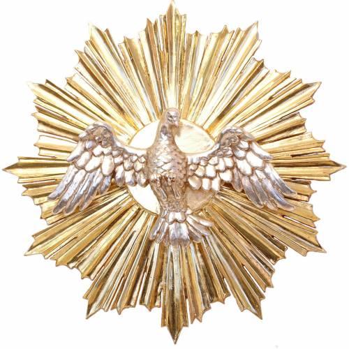 Bassorilievo Spirito Santo cm 28 legno Valgardena Antico Gold s1
