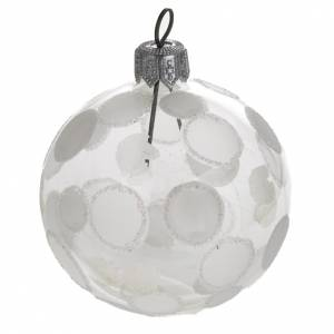 Christmas balls: Bauble for Christmas tree in blown glass, 6cm diameter