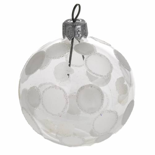 Bauble for Christmas tree in blown glass, 6cm diameter s1
