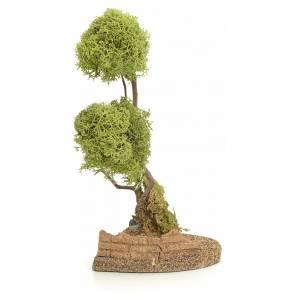 Moos, Stroh und Bäume für Krippe: Baum mit Flechte für Krippe 20cm groß