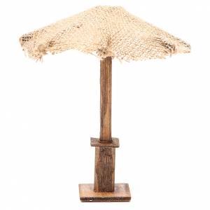 Beach Umbrella jute Nativity 16x16x16cm s1