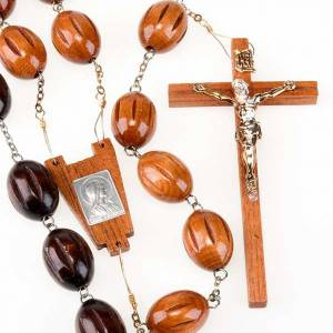Bedboard rosary with inlayed oval beads s1