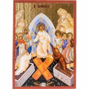 Holz, Stein gedruckte Ikonen: Bedruckte Ikone mit Bild des Abstieges Christi in die Unterwelt