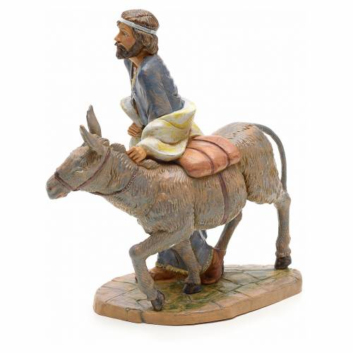 Berger avec âne crèche Fontanini 19 cm s2