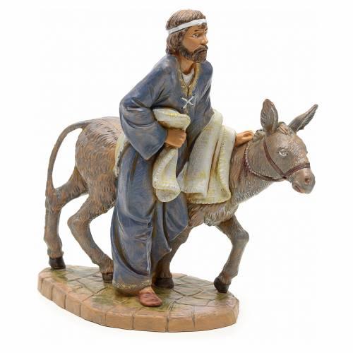 Berger avec âne crèche Fontanini 19 cm s1