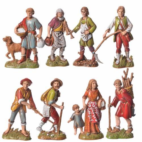 Bergers 10 cm couleurs classiques 8 pcs Moranduzzo s1
