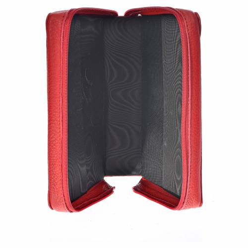 Bible cover reader edition red leather Christ Pantocrator s3