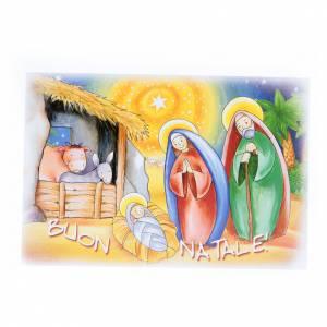 Biglietti augurali: Bigliettino auguri e puzzle Buon Natale