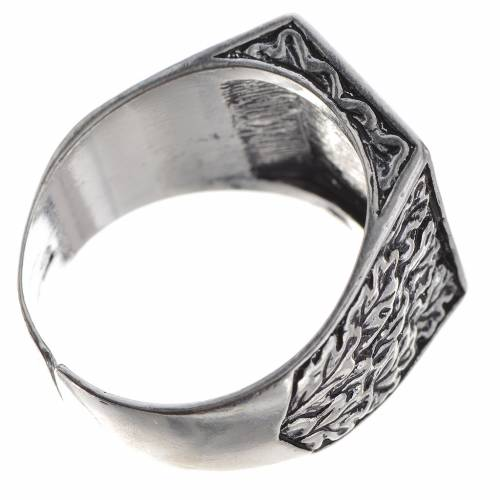 Bishop's ring, burnished 800 silver with Tau cross s5