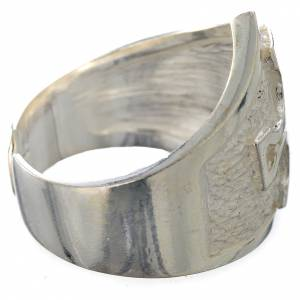 Bishop's ring in 800 silver with silver cross s2