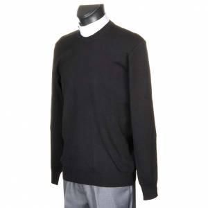 Black crew-neck pullover s2