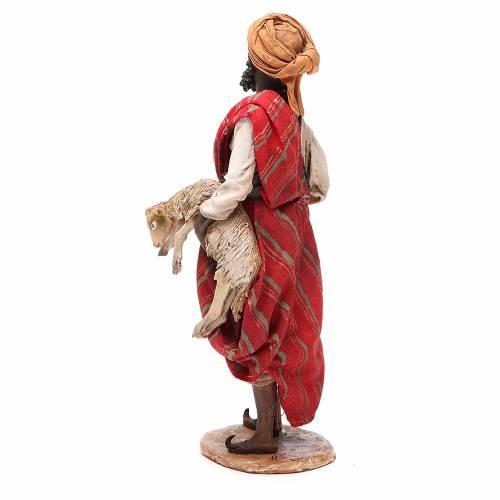 Black man with sheep 18cm Angela Tripi s3