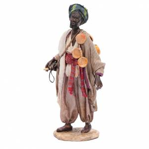 Black man with wineskin 18cm Angela Tripi s2