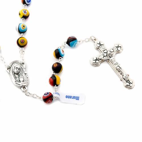 Black Murano glass rosary s3