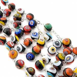 Murano glass rosaries: Black Murano glass rosary