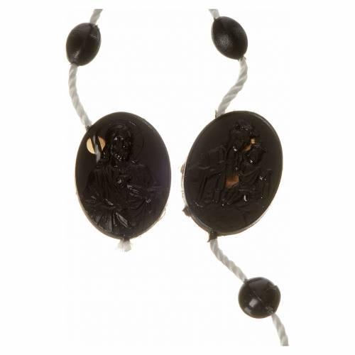 Black nylon rosary, centerpiece easy to open s2